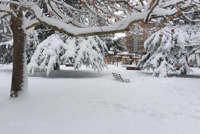 A Campobasso sono caduti 50 centimetri di neve, 18 gennaio 2016. ANSA/ENZO LUONGO