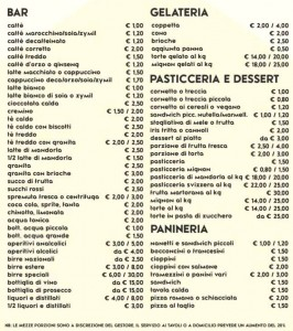 Listino prezzi unificato 2016 bar marsalalive