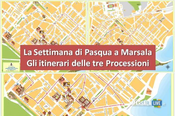 Pasqua itinerari delle tre Processioni a Marsala