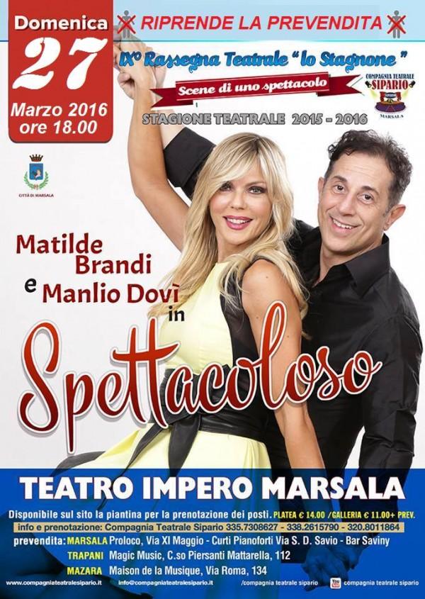 Spettacoloso 27 marzo SIPARIO marsalalive