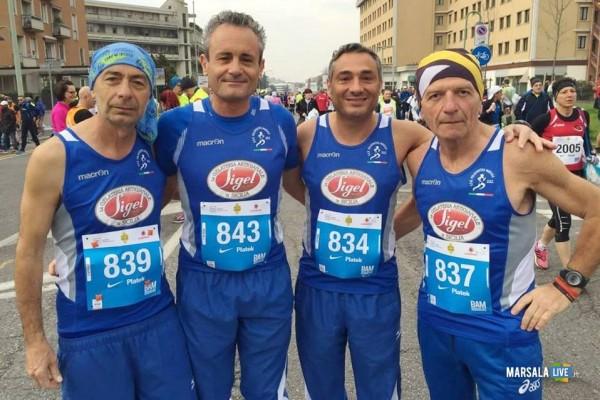 Atleti Polisportiva Marsala Doc alla Maratona di Brescia Ignazio Abrignani