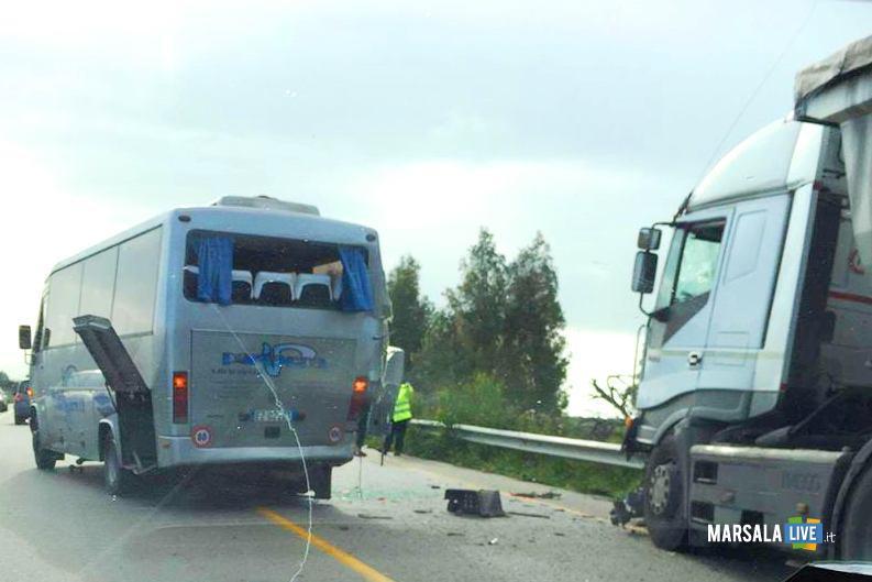 Incidente SS 115 Menfi e Castelvetrano marsala live