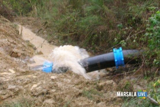 rottura idrica marsala live