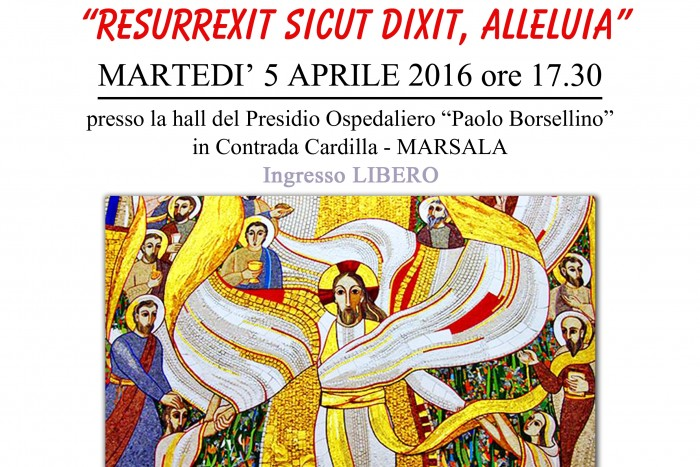 Resurrexit, sicut dixit, alleluia musica corale ospedale Marsala Live