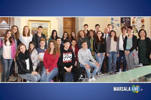 Studenti in visita al Comune tedeschi marsalalive