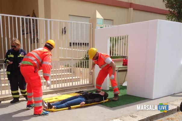Marsala-scuola-Mazzini-simulazione-di-un-terremoto