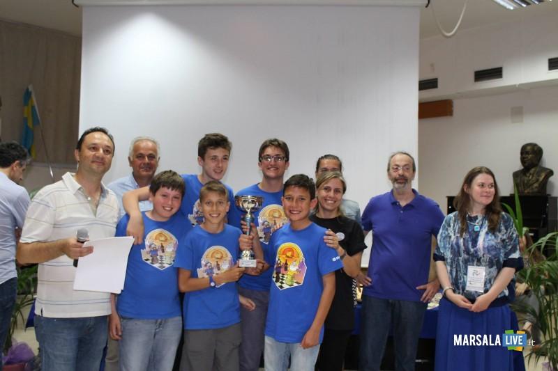 la premiazione dei Lilybetani Campioni Regionali Under 16 a squadre