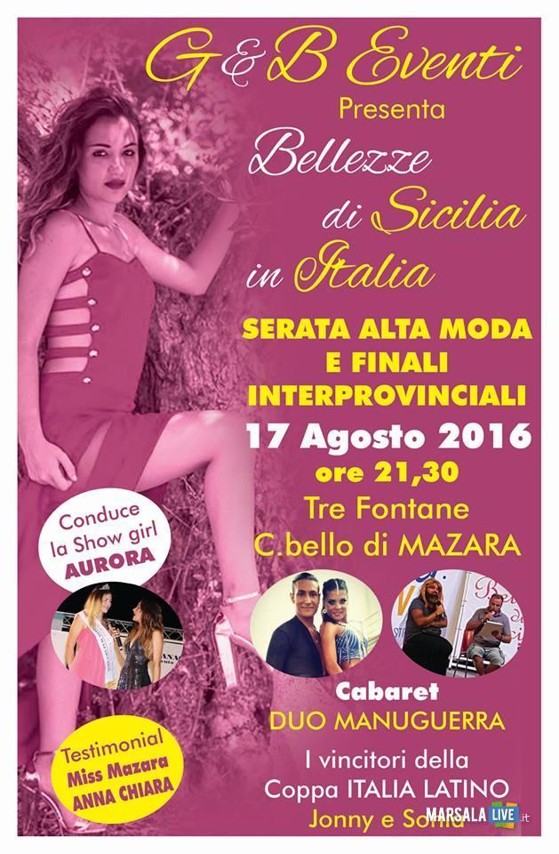 Bellezze di Sicilia in passerella locandina 17.08.2016