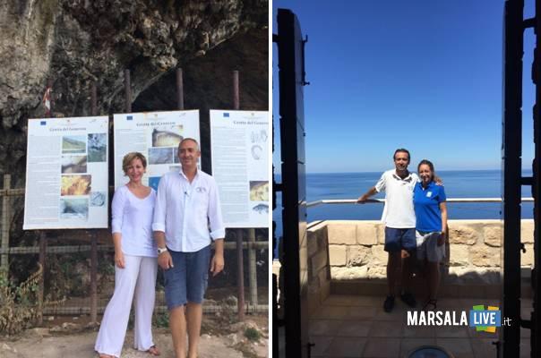 Dorina-Bianchi-in-visita-alle-Isole-Egadi