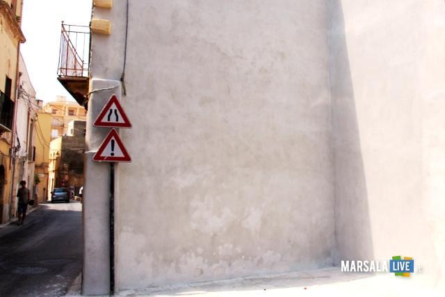 la parete dove verrà realizzato il murales