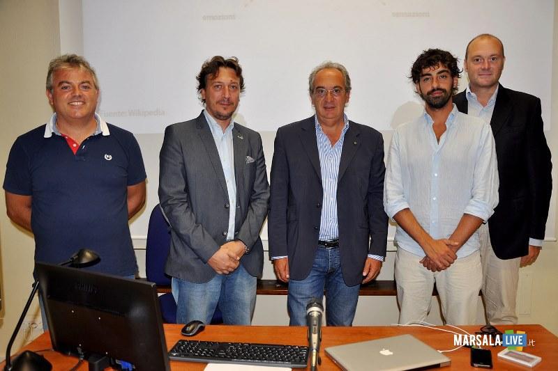 Alessandro Carollo, Avv. Paolo Pellegrino, il presidente Giuseppe Pace, Pietro Valenti, Pietro Messina