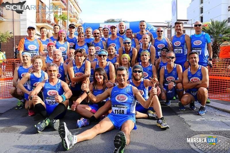 Atl. - Atleti Pol. Marsala Doc alla Mezzamaratona di Capo d'Orlando - foto Michele Amato