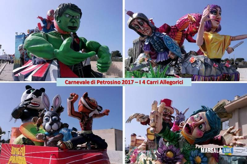 Carnevale di Petrosino 2017 - i 4 Carri Allegorici