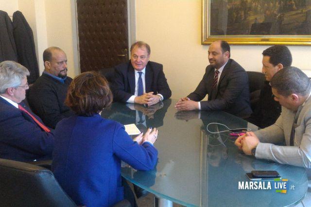 La delegazione libica ricevuta dall'Assessore Cracolici