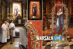 Marsala-Santuario-Maria-SS-Addolorata-simulacro-ornato-con-arco-floreale
