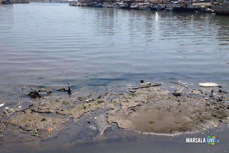 Porto canale di Mazara-isola di sabbia