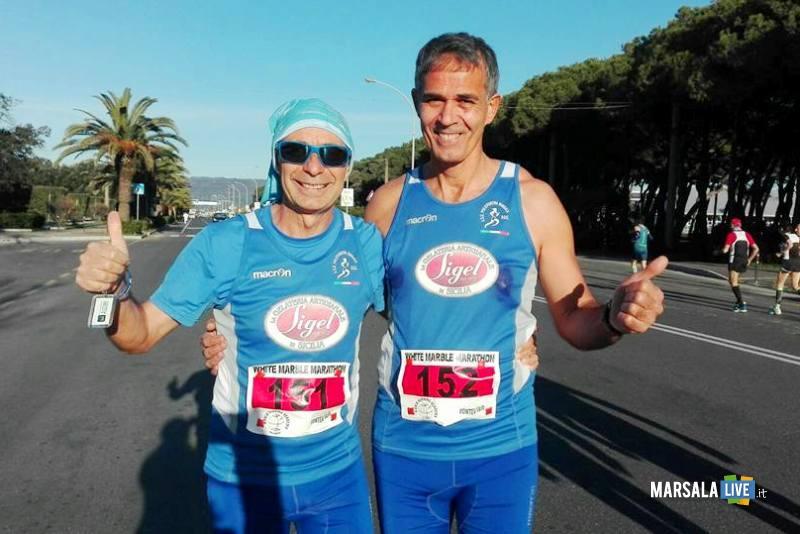 Atl. - Pietro Sciacca e Giuseppe Valenza alla Maratona di Carrara