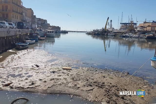 Porto Canale di Mazara insabbiato
