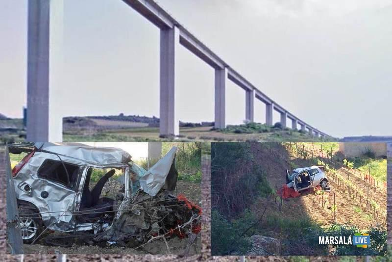 Auto precipita in un viadotto: due vittime