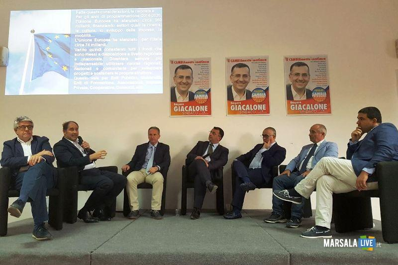 Il sindaco Giacalone insieme ai Relatori
