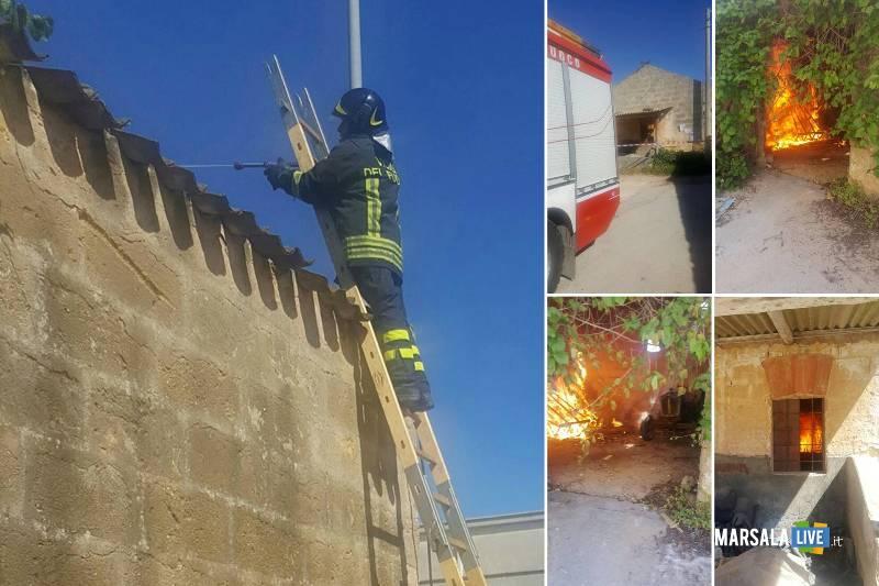 Petrosino-incendio-doloso-magazzini-famiglia-Vincenzo-D-Alberti