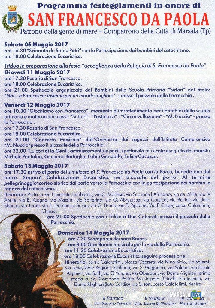 Programma San Francesco Di Paola corso Calatafimi