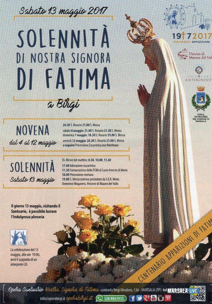 Programma Solennità di Nostra Signora di Fatima 1