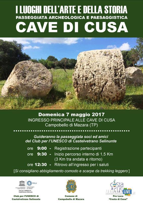 passeggiata archeologica Cave di Cusa 7 maggio