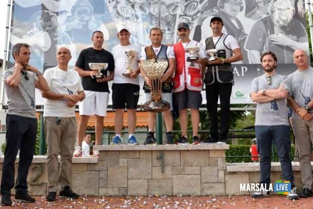 34^GoldCupBeretta - Il podio (1° Nicolò Anastasi + 2° Louis Rodriguez + 3° Giovanni Cernogoraz + 4°Eduardo Bedoya De la Cruz + 5° Daniel Bolis) bis