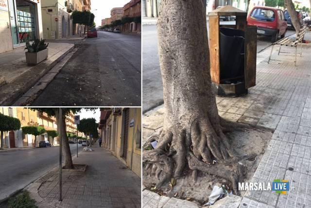 Corso Gramsci Marsala sporcizia.