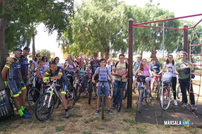 tutti in bici manifestazione petrosino Nosengo Scuola