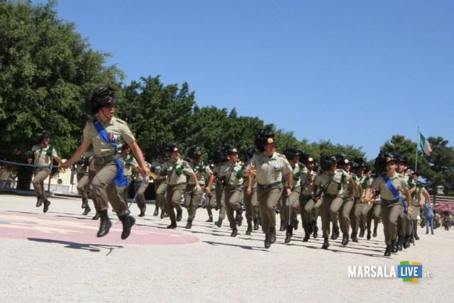 un momento della cerimonia militare