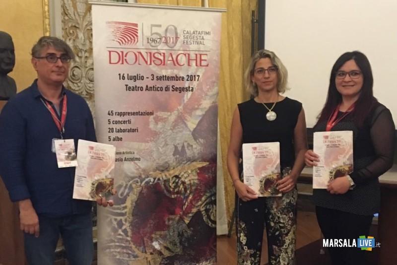 Cartellone del Calatafimi Segesta festival Dionisiache 2017