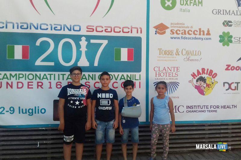 Da sx Vito Genovese, Flavio pipitone, Giuseppe Salvato e Bianca Pipitone