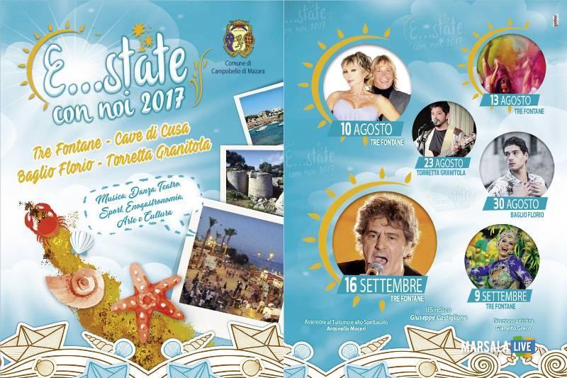 Estate con noi 2017-Fausto Leali Carnevale estivo Campobello e Tre Fontane