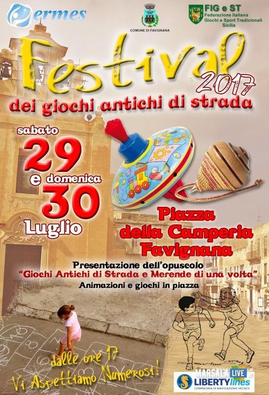 Festival dei giochi di strada a Favignana-