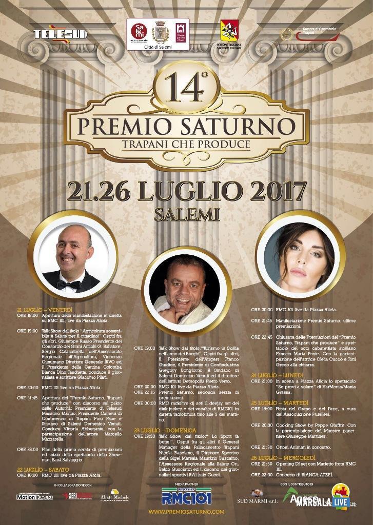 Locandina Premio Saturno 2017
