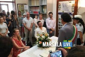 Silvio Distilo e Emilie Clementine Bernard sposi a marettimo