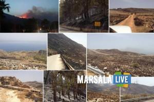 Un incendio devasta la riserva dello Zingaro