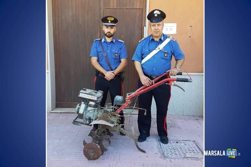 buseto palizzolo Furto di macchinari agricoli tre denunce Carabinieri
