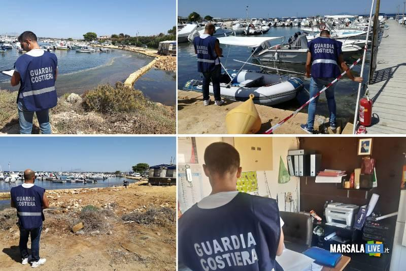 Marsala ormeggi abusivi tre sotto sequestro guardia costiera