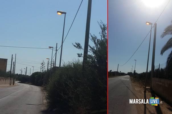 luci accese in contrada Pispisia a Marsala