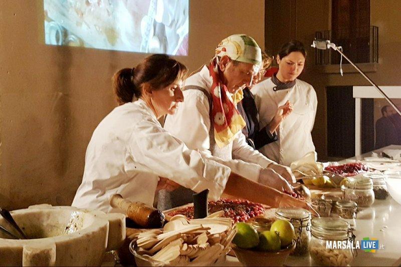 Cooking Show Maison Sensi_da sx Patrizia Di Benedetto_Peppe Giuffrè_Valentian Laudonia