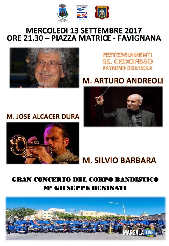 Favignana Gran concerto Banda in onore del Ss Crocifisso