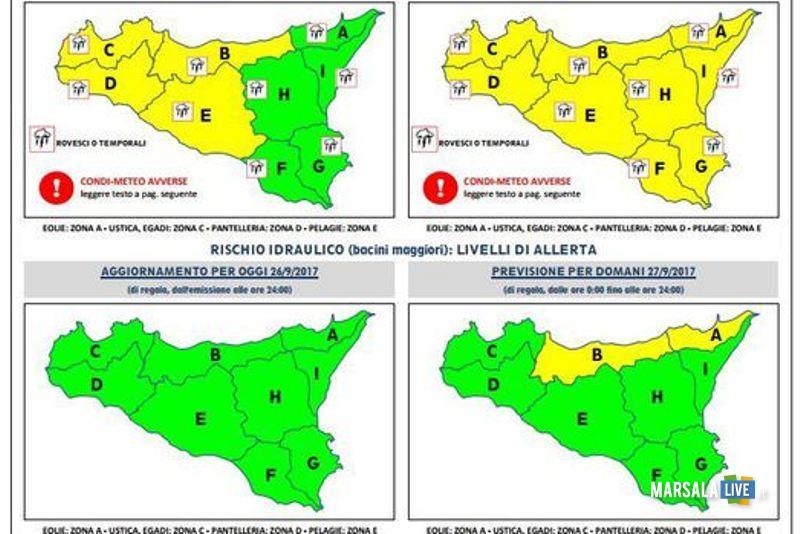 Maltempo in Sicilia allerta Protezione civile piogge intense-