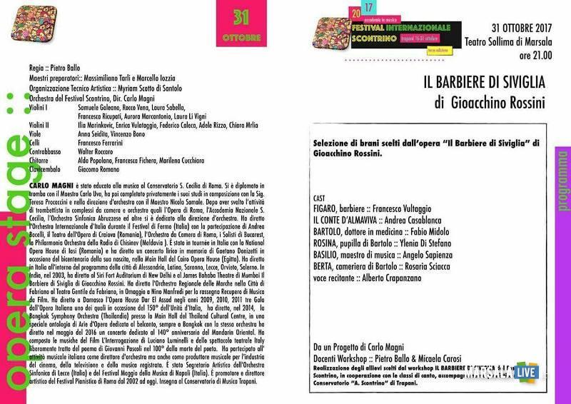 Il Barbiere di Siviglia - Conservatorio Scontrino