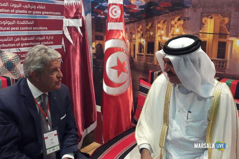 Da dx Ministro Qatar Mohamed Al Kwari e Giovanni Tumbiolo