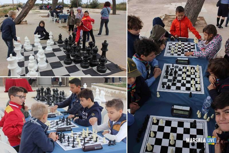 scacchi al Parco Archeologico di Marsala