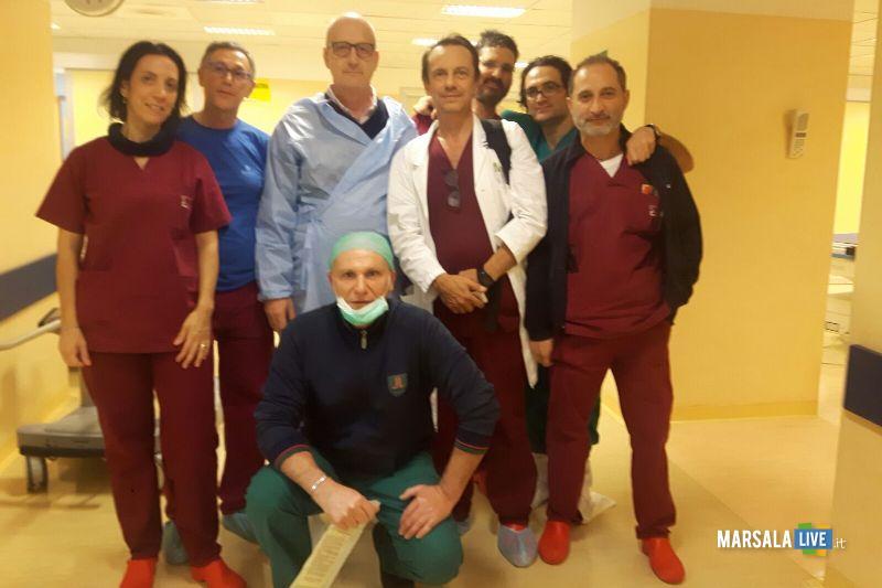 Cacciapuoti e equipe ospedale Marsala