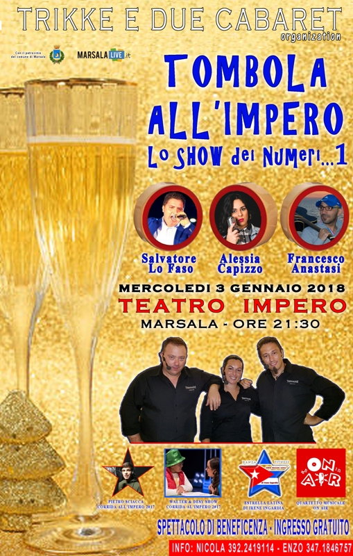 LOCANDINA TOMBOLA ALL'IMPERO 2018 ml